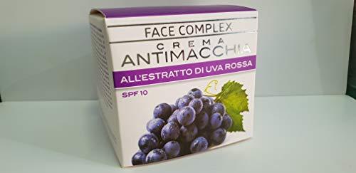 Crema Facial Antimanchas Con Extracto De Uva Roja y Spf10, Crema Aclarante con Extracto de Uva Roja. 50ml