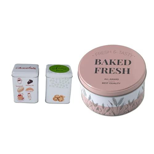 caja infusiones bote para te bote para cafe PACK TRES UNIDADES caja para guardar galletas + dos cajas para te infusiones pastas galletas chocolate frutos