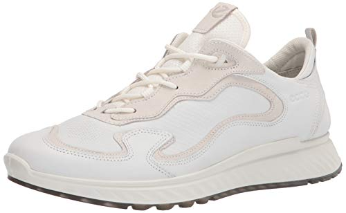 ECCO Herren ST.1 Sneaker niedrige Turnschuhe, Multicolour White, 44 EU