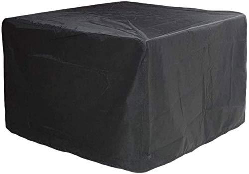 DIELUNY Fundas para Muebles para sofás y sillas 135x135x75cm, Funda Negra para Muebles de jardín, Fundas Impermeables para mesas de Patio, Mesa de Tela Oxford