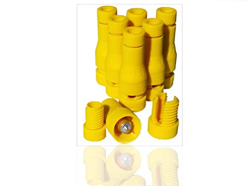 Modtek Low Voltage High Performance Piercing Connectors for Landscape Lights, Cable Connector (Yellow 6 Pack)