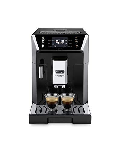 DeLonghi eCAM 550.55. SB Kaffeemaschine, autonom, vollautomatisch, 2 l, Edelstahl Neues Modell schwarz und silberfarben
