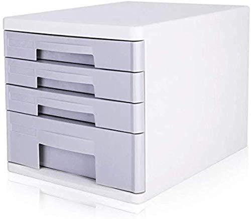 Archivadores Archivadores de alta transparentes capas de resina de cajones de datos de Office Supplies Caja de almacenamiento de sobremesa de escritorio Armario de plástico PP - 26.5x34.4x25cm Caja de