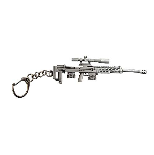 NK GLOBAL PUBG Rifle de francotirador Llavero Artes juguetes Llavero de plata decorativo Colgante para niños, Llaveros para hombre El mejor regalo