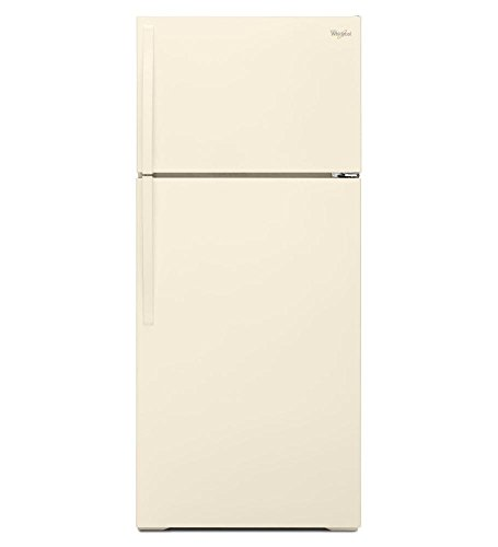 WHIRLPOOL REFRIGERATORS 2476860 16 cu.ft. Top-Freezer Refrigerator, Bisque, Reversible Door