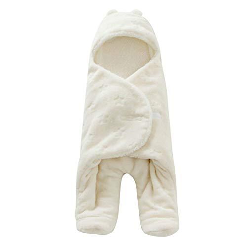 Pingrog Baby Slaapzak Pasgeboren Swaddle Casual Chic Deken Hood Slaapzak Afzonderlijke Benen Rugzak Doek 68 X 80 Cm (Beige)