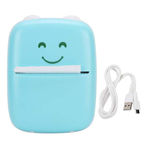 Mini Pocket Printer Estudiante para Bluetooth Teléfono Móvil Azul Ejercicios Incorrectos Impresión De Fotos Mini Impresora Portátil