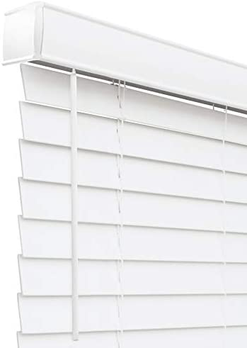 CHICOLOGY Cordless 2 in Faux Wood Blinds Horizontal Venetian Window Treatment Best for Kids product image