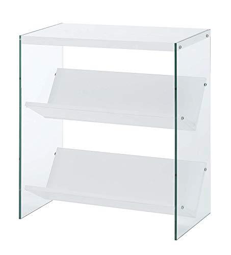 Convenience Concepts Soho Bookcase, White / Glass