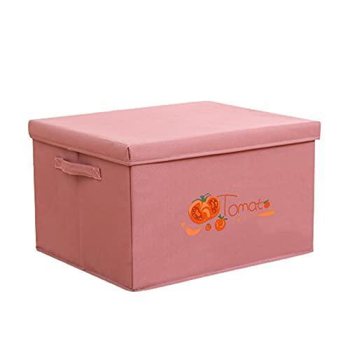 Parshall Caja de almacenamiento plegable multifunción de tela cesta de ropa organizador portátil con asas de tapa para juguetes, revista portátil y útil caja de almacenamiento púrpura
