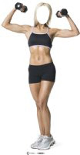Pappaufsteller Muscle-Woman Couple 'Stand In' Standup Figur Kinoaufsteller Pappfigur Cardboard Lebensgroß Life-Size Standup
