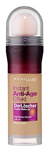 Maybelline New York Make Up mit LSF 18 und Anti-Aging Effekt, Instant Anti-Age Löscher Foundation, Nr. 48 Sun Beige, 20 ml