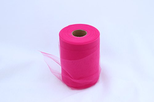 Fuchsia Tulle Roll - 6 Inch X 100 Yard - Tulle for Decoration and Tutu Dresses