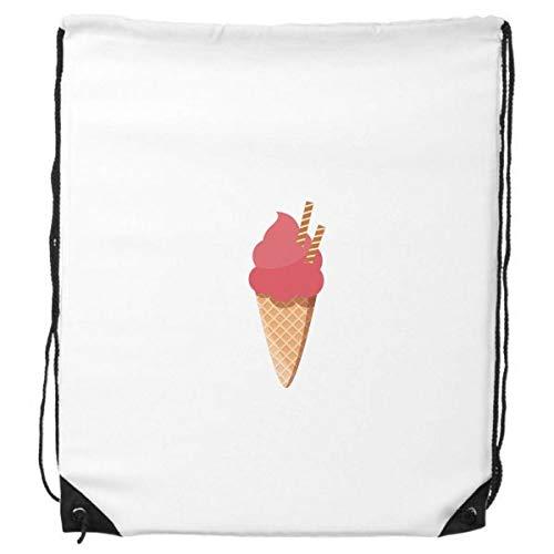 DIYthinker Biscuits Ei-Kegel Red Ice Cream Rucksack-Shopping Sport Taschen Geschenk