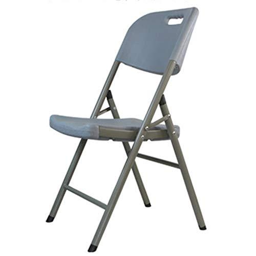 Stühle Haushalts-Klappstühle, Einfache Tragbare Plastikrückstühle Freizeit-Esszimmerstühle Büro-Konferenz Computer Kleine Hocker (Color : Gray)