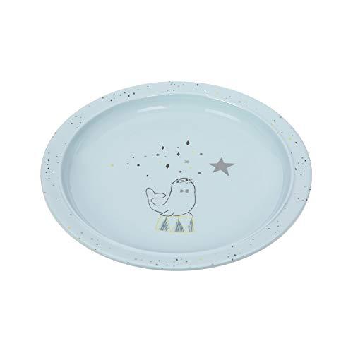 LÄSSIG Kinderteller rutschfest Melamin/Plate More Magic Seal, blau