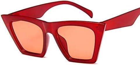 Mdsfe Lunettes de Soleil carrées Mode Dames Designer mâle/Femelle Lunettes de Soleil œil de Chat Classique rétro UV400 extérieur - Blanc Red-a171