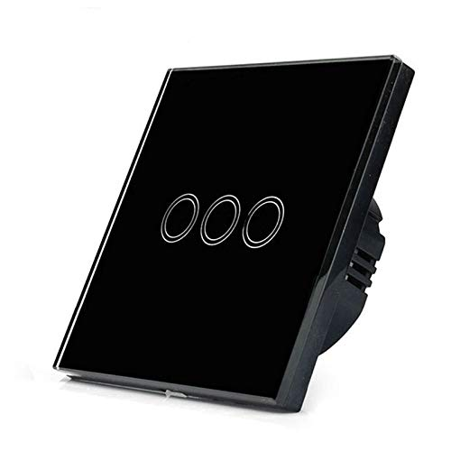 Interruptor táctil ligero 220V Sensor Lámpara de pared Interruptor estándar 1/2/3 Pand Gang Panel de vidrio templado Interruptor inteligente a prueba de agua Interruptor Luz Pared