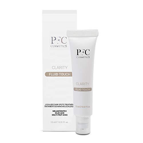 PFC Cosmetic Crema Viso Anti macchie ad Azione Locale Clarity Fluid Touch 15ml, con Melan owhite, Multifruit, Vitamina C+ Complex, Acido Glicolico e Acido Cogico, per la cura di viso e pelle.