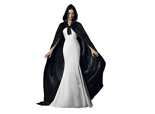 Special Bridal Umhang schwarz Erwachsener Unisex Halloween umhang flügel Cape Schwarz 4XL