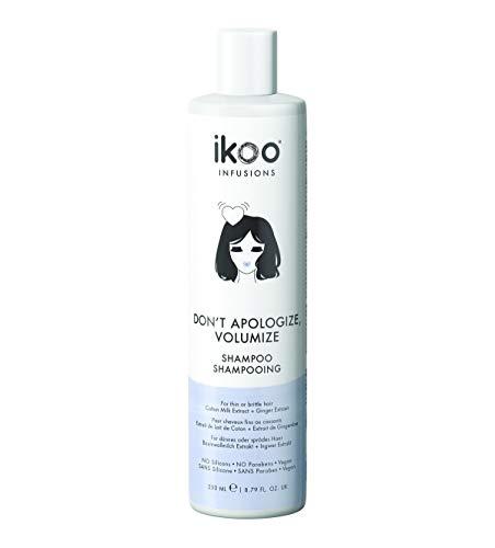 ikoo infusions Shampoo - Haarshampoo Don't Apologize, Volumize, Pflegeshampoo, Dünnes Haar, Sprödes Haar, Sprungkraft fürs Haar, Haarpflege, Haar Behandlung, Volumen, Vitamin, Weizen, Vegan - 250 ml