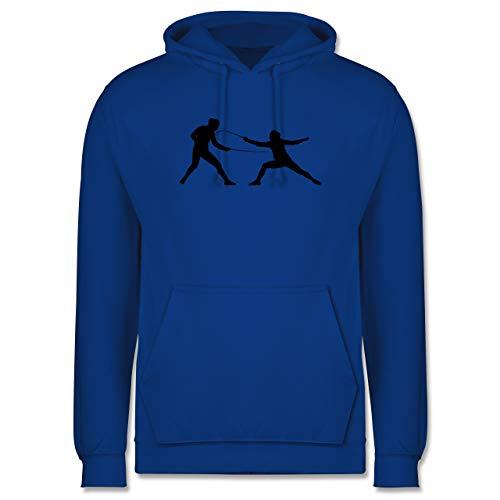 Shirtracer Kampfsport - Fechten - XL - Royalblau - JH001_Hoodie_Herren - JH001 - Herren Hoodie und Kapuzenpullover für Männer