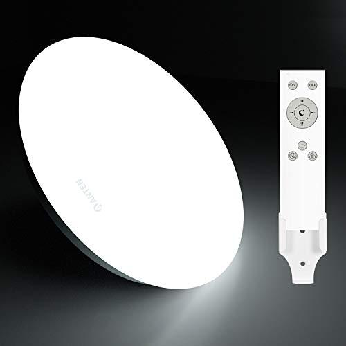 Anten Plafón de techo Regulable, Lámpara LED 24W con mando a distancia, con modo Luz nocturna, apto para Dormitorios, Salones, Cuartos infantiles, Pasillos (eficiencia energética A +)