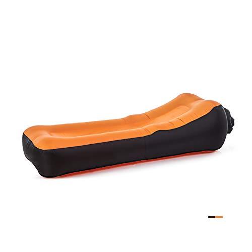 Aufblasbare Lounger Air Sofa Wasserdichtes Beach-Außen Lehnstuhl Geschenk gefüllt Schlafen Zubehör Blow Up Pouch Wind Inflatbale Tasche Blowup Natures Hammock Klappstuhl Camping Couch,Orange