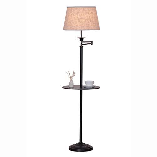 Bandeja de Almacenamiento Lámpara de pie - contemporáneo, de Alto Flujo Luminoso for la luz Salas de Estar y oficinas - Regulable de Lectura del Dormitorio Lámparas de pie