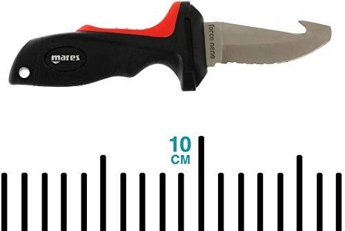 Mares Erwachsene Tauchermesser Coltello Force Nano Plus, Schwarz, BX