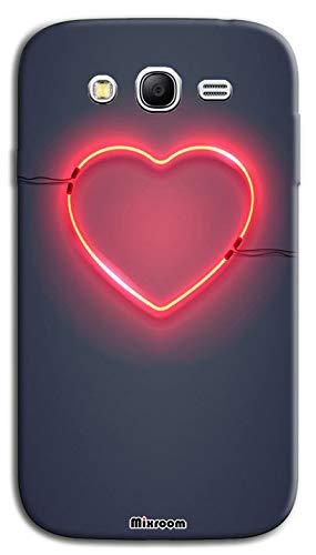 Mixroom - Cover Custodia Case in TPU Silicone Morbida per Samsung Galaxy Grand Neo I9060i (Plus) Fantasia Cuore Neon U903