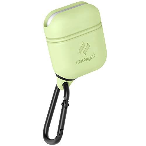 Catalyst Airpods Hülle - Stoß und Fallfeste Airpods Schutzhülle, Wasserdicht und Weich auf der Haut, Anti-Lost Karabinerhaken, Silikonabdichtung, Hochwertigen Kopfhöhern Zubehör, Leuchtet im Dunkel