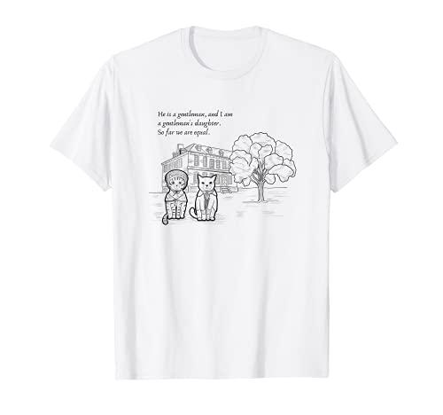 誇りと偏見と猫 (ジェイン・オースティン) Tシャツ