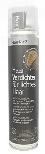 Hairfor2 Haarverdichtungsspray gegen lichtes Haar (300ml, Dunkelblond)