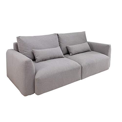 Invicta Interior Modernes 3er Sofa Hampton 240cm hellgrau 3-Sitzer inkl. Kissen Couch Polstergarnitur
