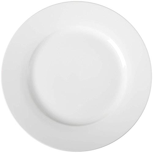 AmazonBasics 6-Piece White Dinner Plate Set