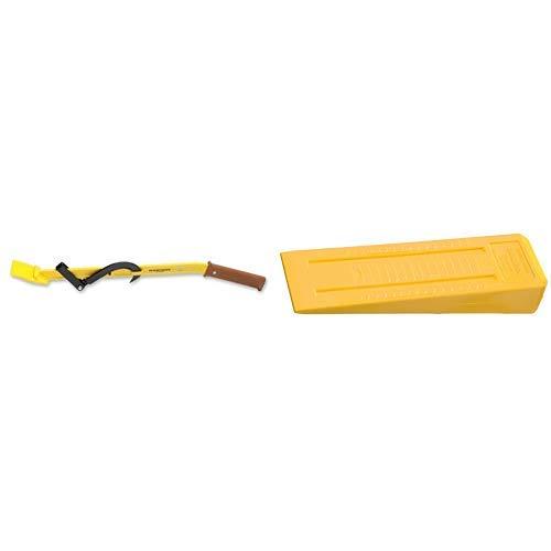 Ochsenkopf OX 58-1200 Fällheber 1200 mm Forstwerkzeuge gelb 125.0 x 13.0 x 10.0 cm & OX 34-0400 Kunststoff-Fällkeil LABRADOR