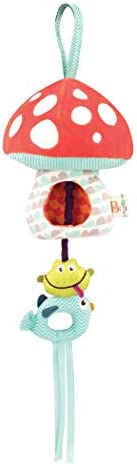 B toys Magical Mellow Zzzs Nursery Mobile Musical Pullstring Baby Mobile with Soft Light Natural product image