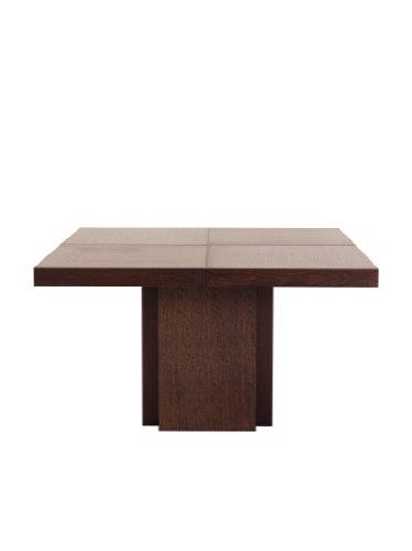 TemaHome Esstisch mit Wabenstruktur, Holz, 150 x 150 cm, Schokoladeneichenfurnier, braun gebeizt, 130 x 130 x 75 cm, Braun