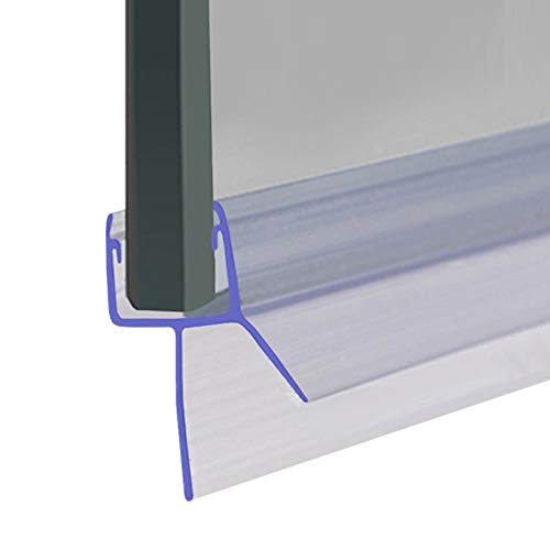 Joint pour porte de douche | Compatible avec les verres de 8, 9 ou 10 mm d'épaisseur | Joint droit et fin | Pour un espace de maximum 12 mm | 80 cm, 90 cm, 140 cm ou 2 m de long | SEAL010