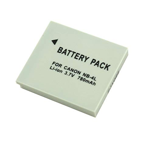 SilverHT 40004 - Batería de cámaras de Fotos para NB4L Canon de...