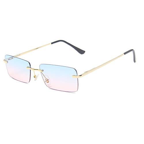 NBJSL Gafas De Sol De Moda Para Mujer Gafas De Sol Sin Montura (Caja De Embalaje Exquisita)