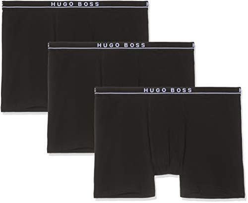 BOSS Herren Boxer Brief 3P BT Dreier-Pack Boxershorts aus Jersey mit Logos am Bund