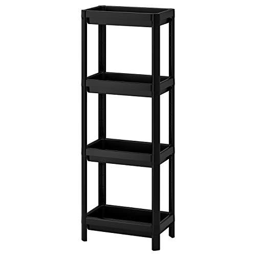 Ikea Vesken Regal, Badregal schwarz 36x23x100 cm