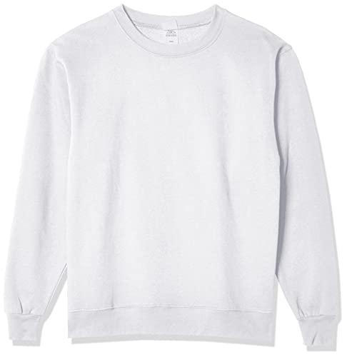 Hanes Men's EcoSmart Sweatshirt, white, Medium