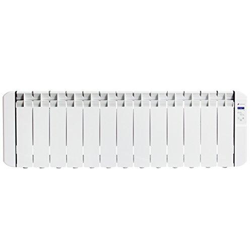 Haverland RC13BL - Radiateur électrique à inertie fluide programmable, idéal espaces réduits, usage idéal 1-6h/jour, pièces /- 15-18 m², 1500 W, Blanc