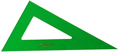 Faber-Castell 666 - Cartabón de 25 cm, color verde