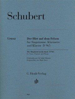 Der Hirt auf dem Felsen D 965 - arrangiert für Gesang und andere Besetzung - Klarinette - Klavier [Noten / Sheetmusic] Komponist: Schubert Franz