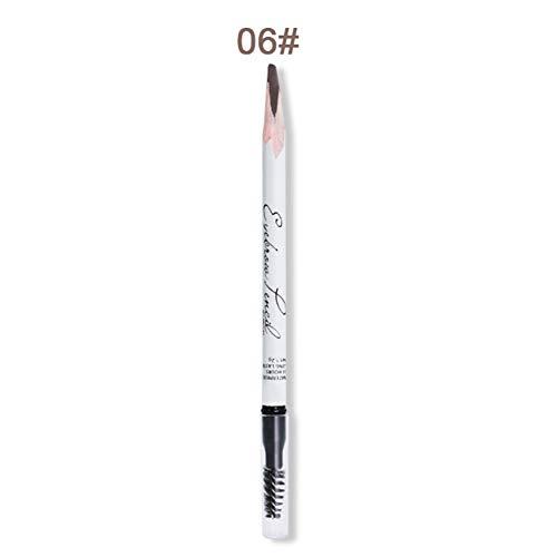 Crayon à sourcils à double extrémité avec pinceau, stylo à sourcils noir et marron résistant aux taches et aux taches