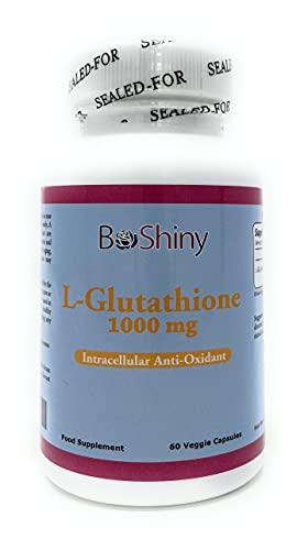 Glutatione Sbiancante pelle Skin Whitening pillole 1000mg supplemento antiossidante anti invecchiamento ridurre le macchie scure sano Detox potente Aminoacidi per Brain e del sistema immunitario